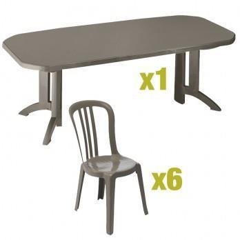 table de jardin grosfillex avec rallonge