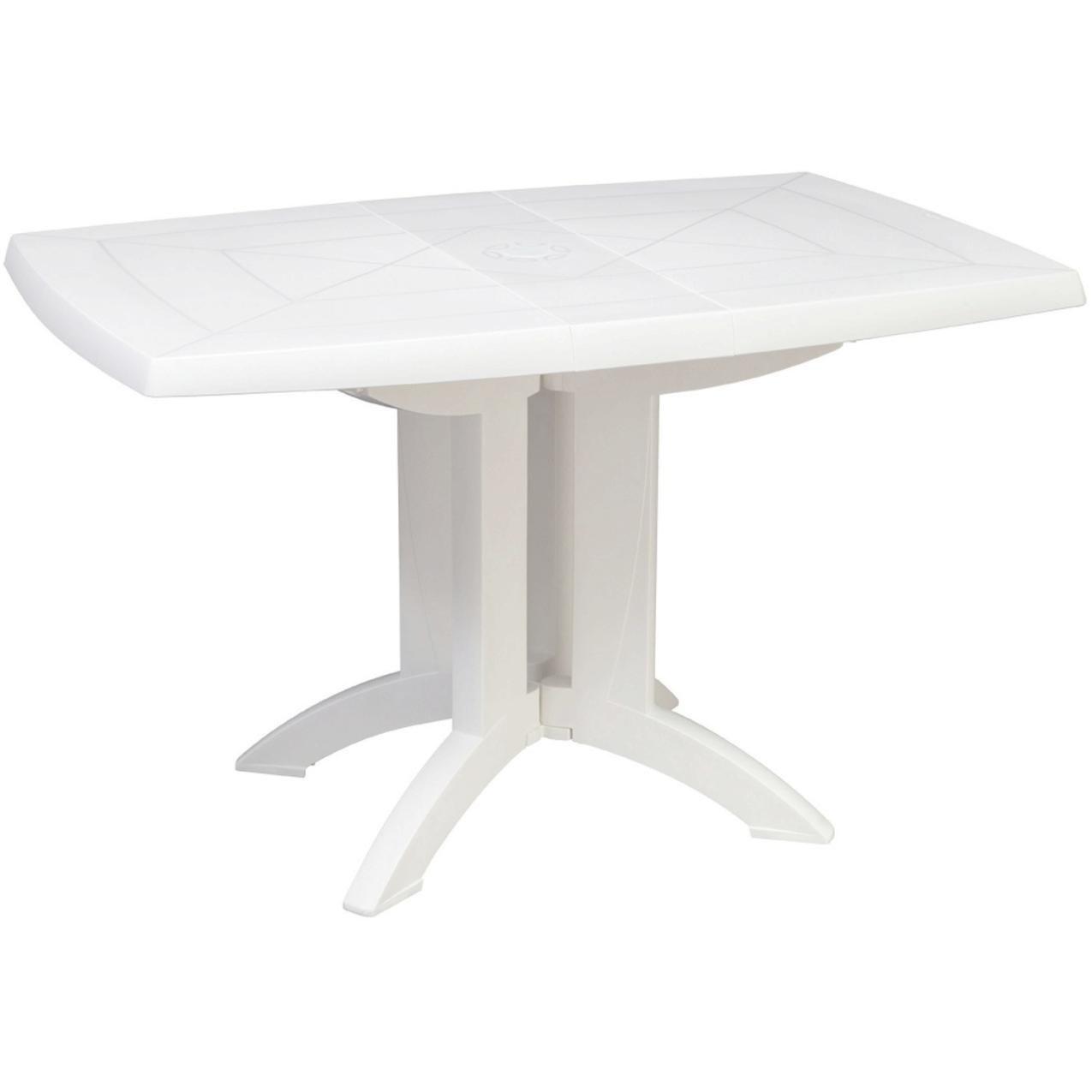 table de jardin grosfillex blanche