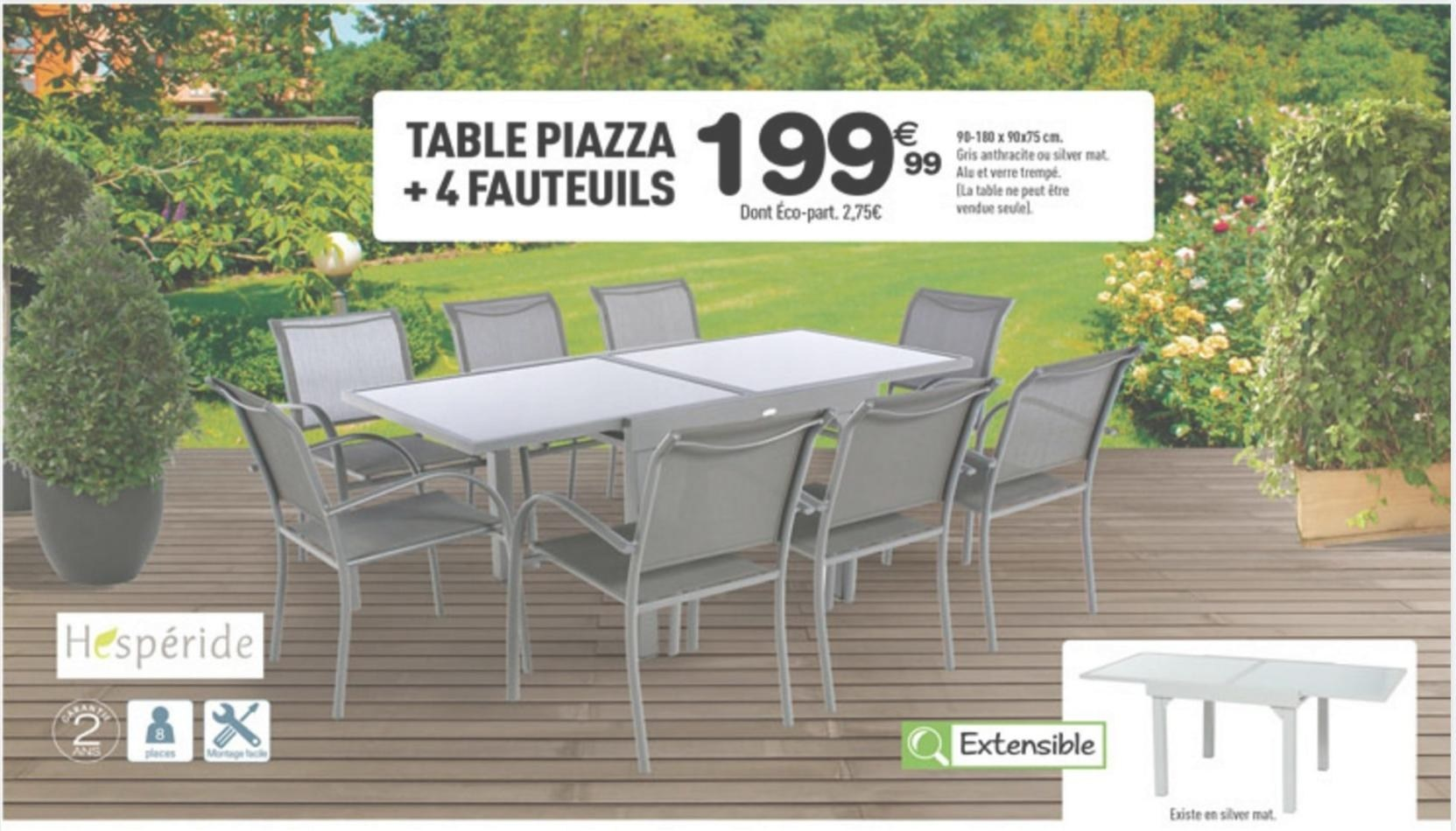 table de jardin hesperide centrakor