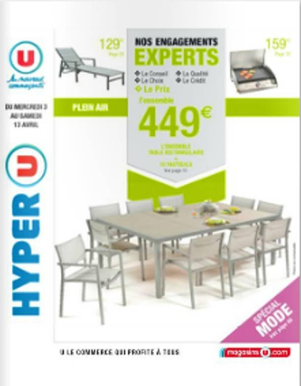 table de jardin hyper u
