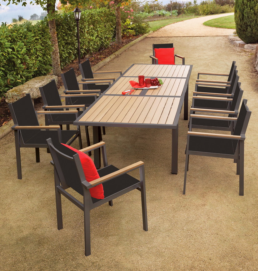 Awesome Table De Jardin Pvc Imitation Bois Contemporary - House ...