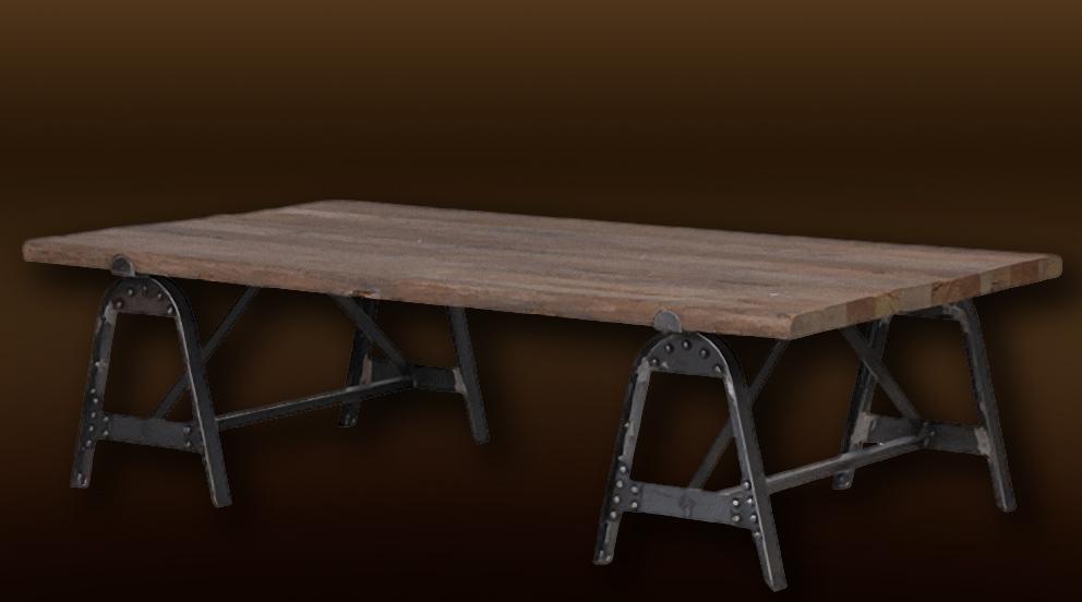 table de jardin industriel