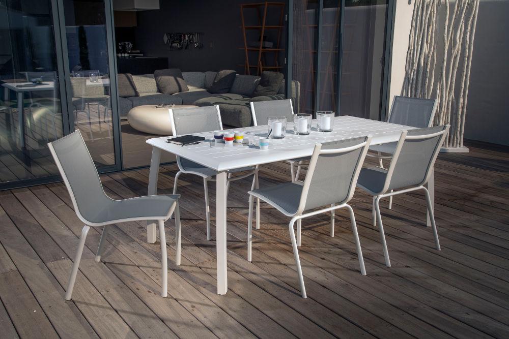 Stunning Table De Jardin Aluminium Blanche Photos - House Interior ...