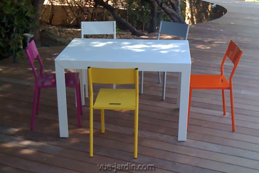 table de jardin largeur 120