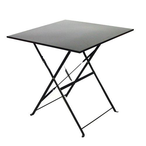 table de jardin metal 70x70