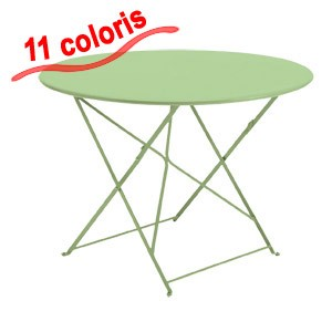table de jardin metal pliante