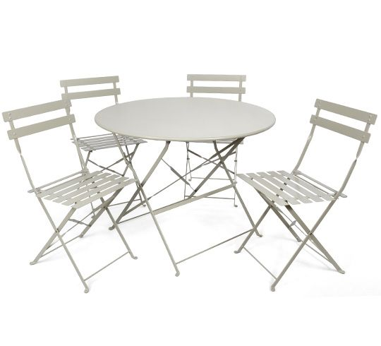 table de jardin metallique pliante