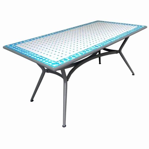 table de jardin mosaique carrefour