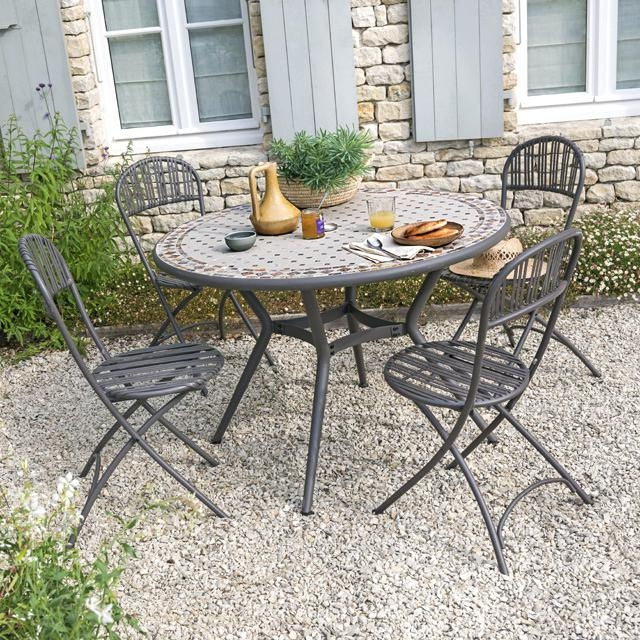 table de jardin mosaique carrefour