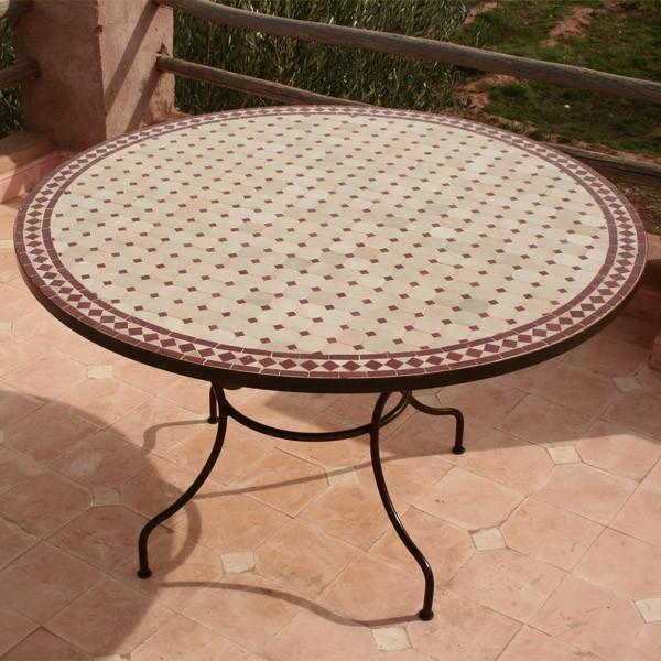 table de jardin mosaique castorama