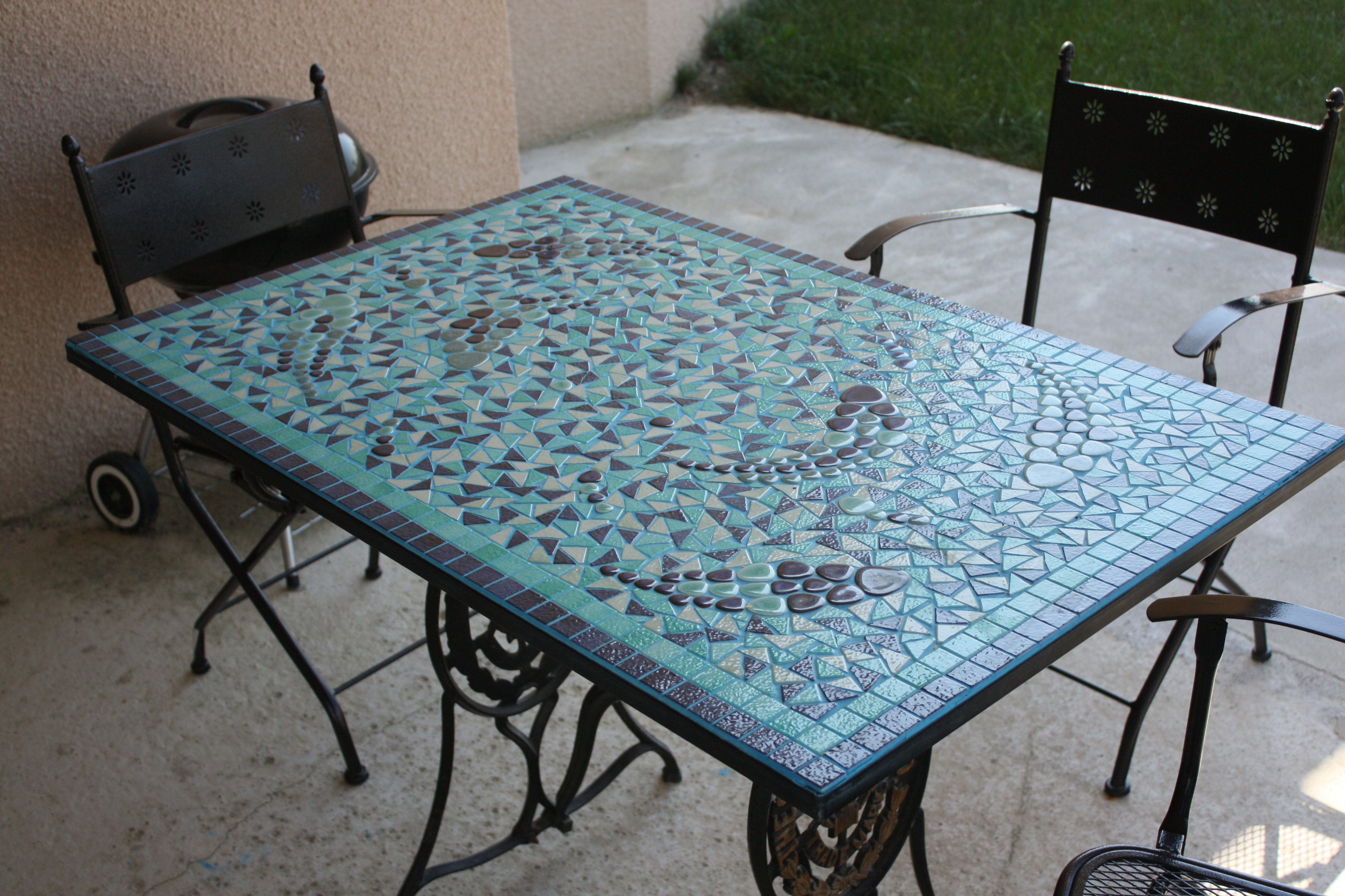 table de jardin mosaique jardiland