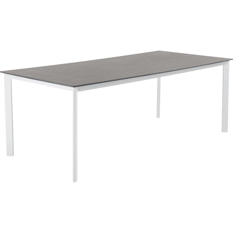 table de jardin naterial lisboa rectangulaire gris 8 personnes