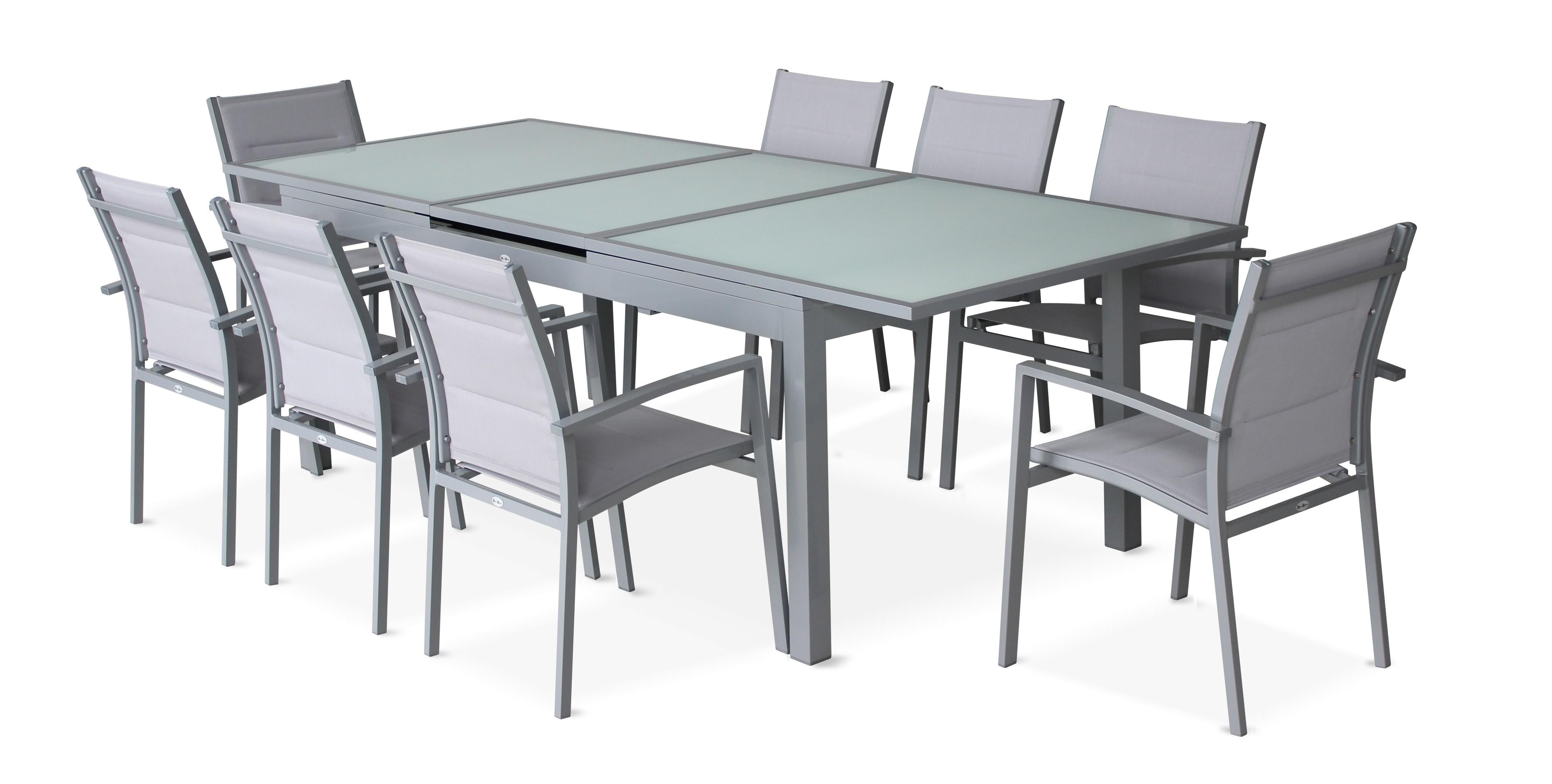 table de jardin naterial niagara rectangulaire gris 10 personnes