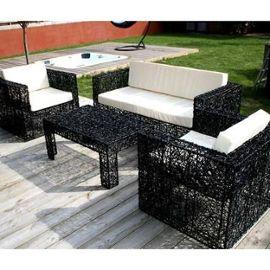 table de jardin noir pas cher