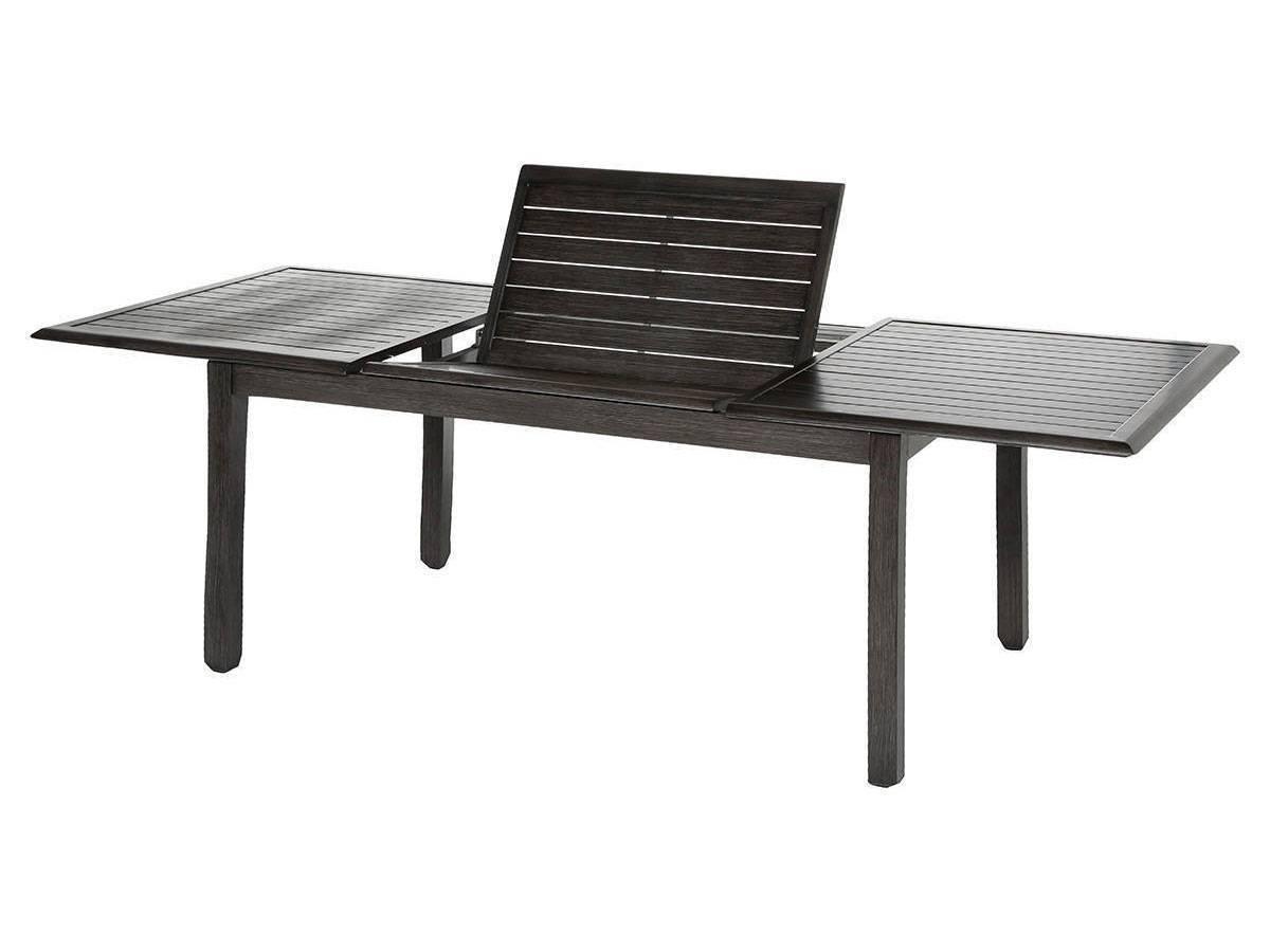 table de jardin noire extensible