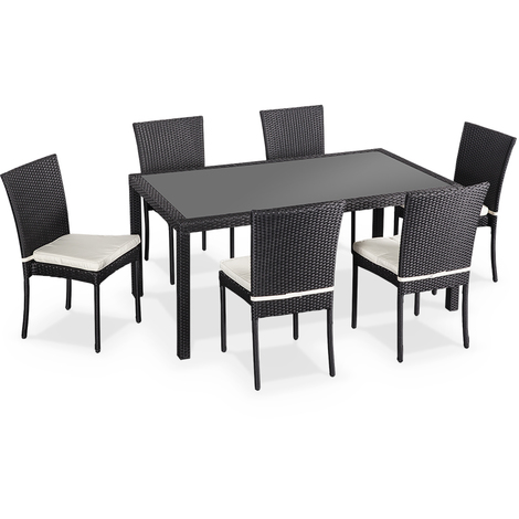 table de jardin noire