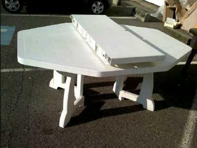 table jardin octogonale pvc