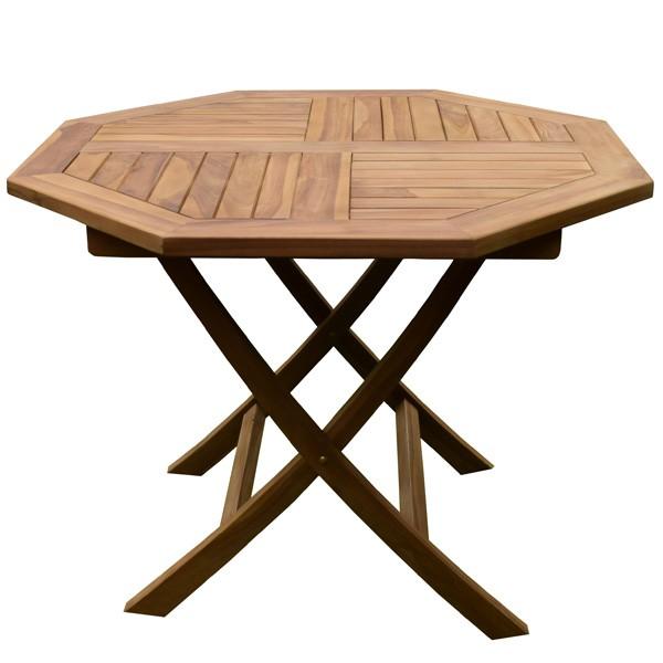 table de jardin octogonale