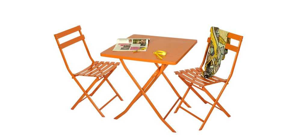 table de jardin orange