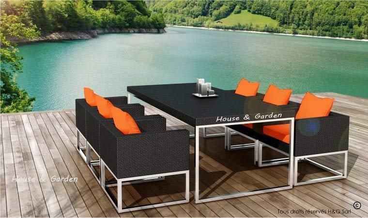 Stunning Salon De Jardin Coussin Orange Ideas - House Design ...
