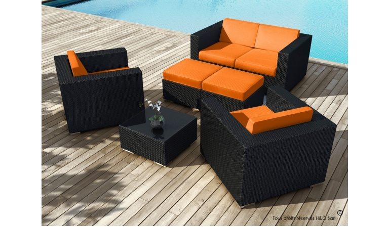 table de jardin orange