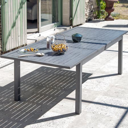 Best Grande Table De Jardin En Aluminium Contemporary - Design ...