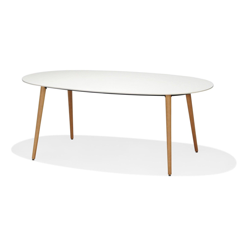 Ovale De Blanche Jardin Table iPkXwTOZu