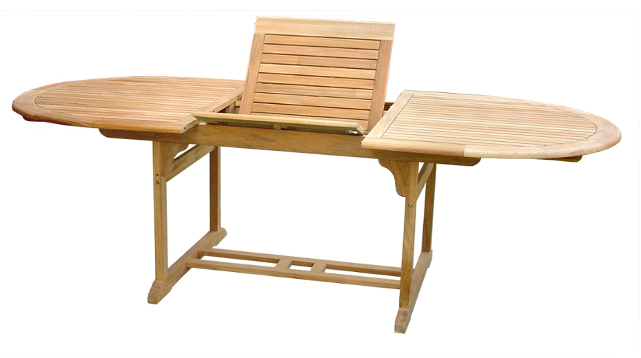 table de jardin ovale extensible
