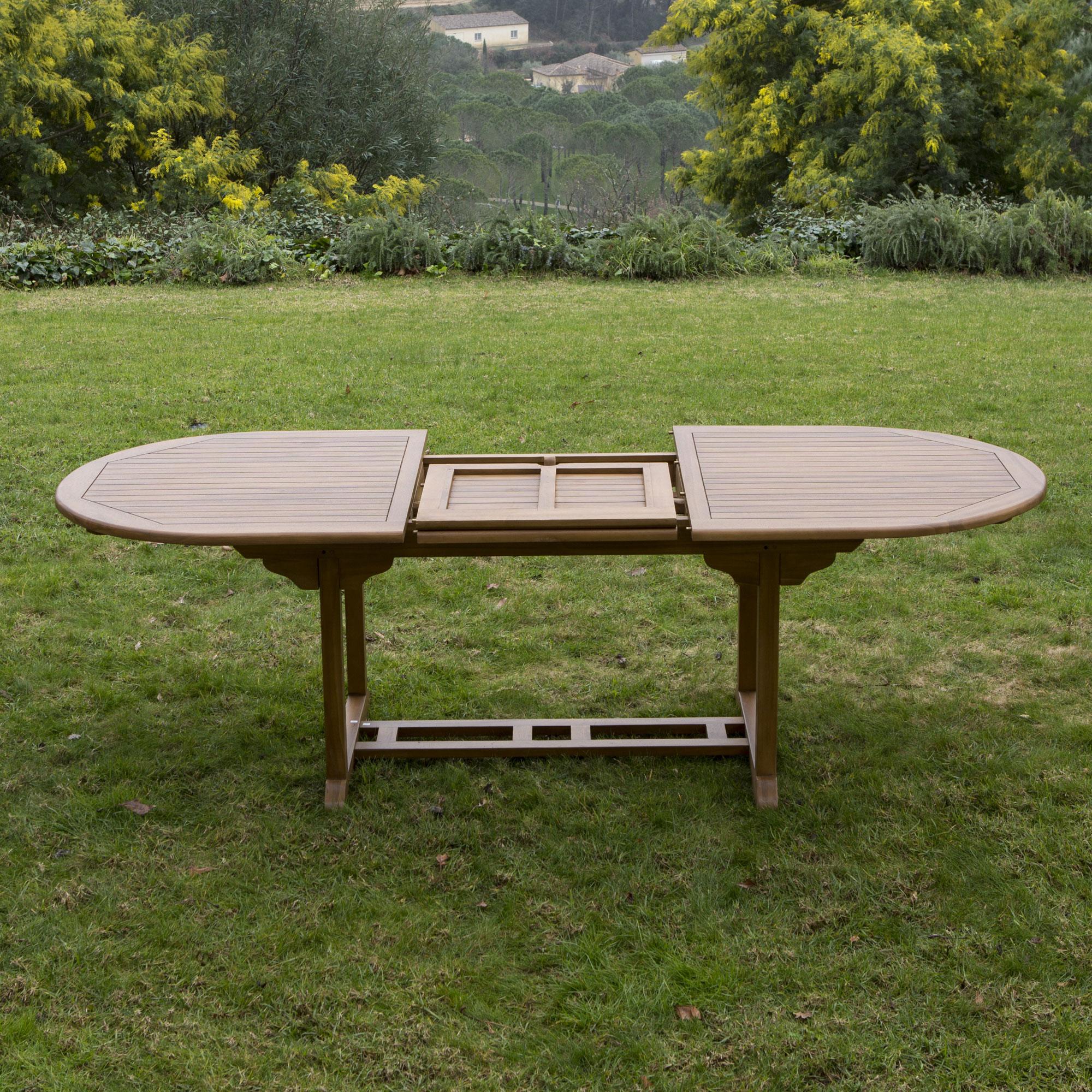 table de jardin ovale extensible
