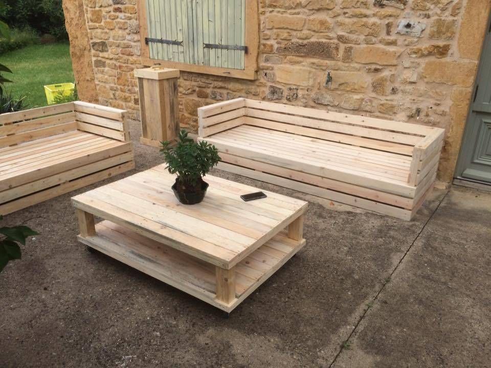 table de jardin palette