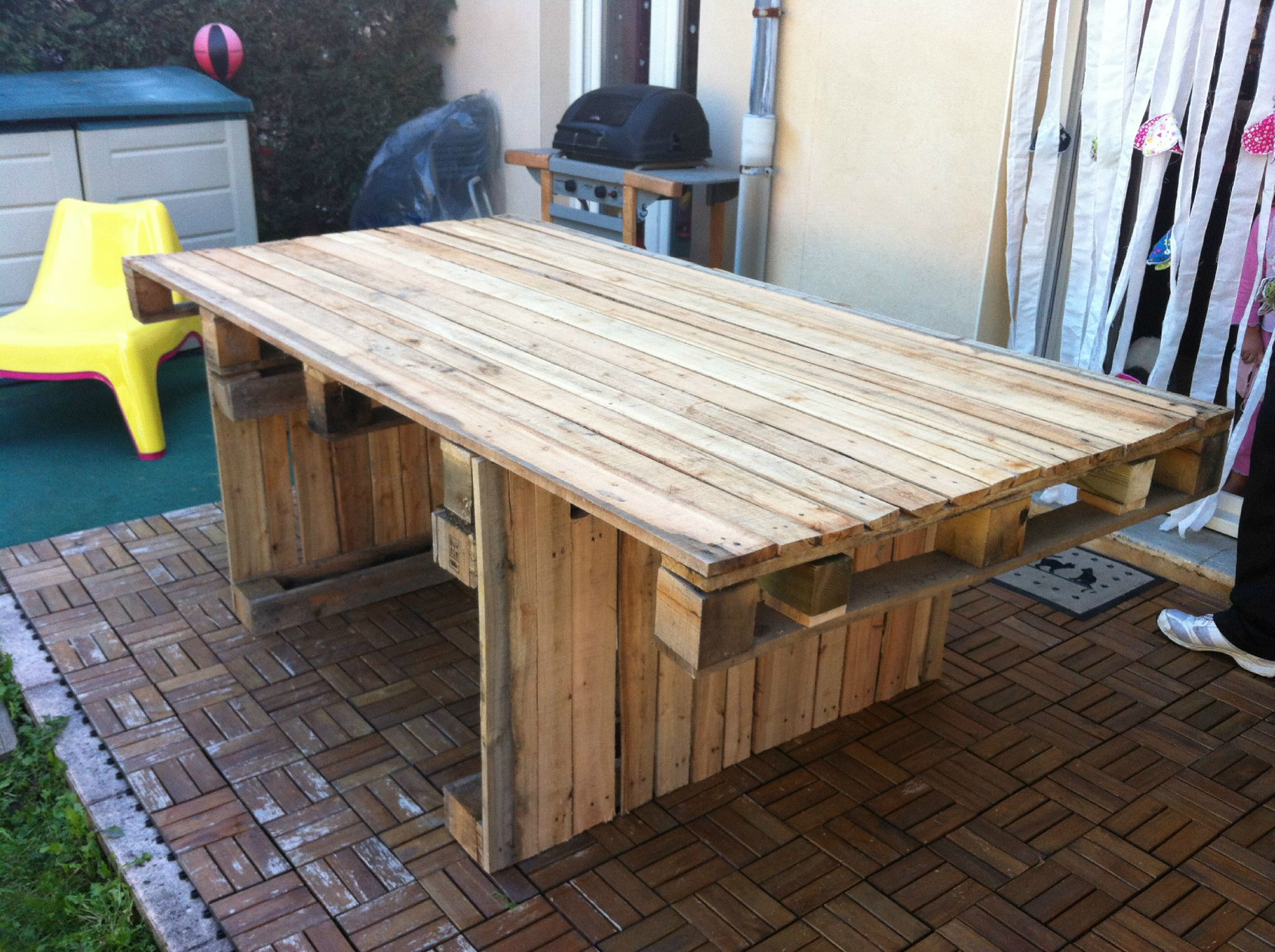 table de jardin palette