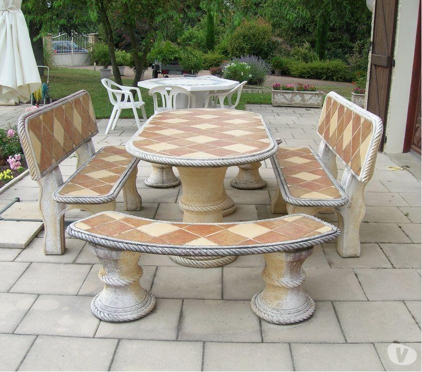 Table De Jardin En Pierre.Table De Jardin Pierre