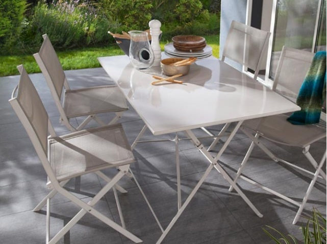 table de jardin pliante castorama