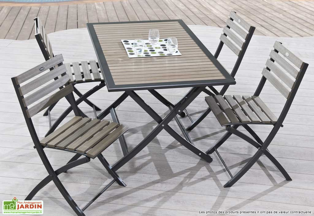 table de jardin pliante metal