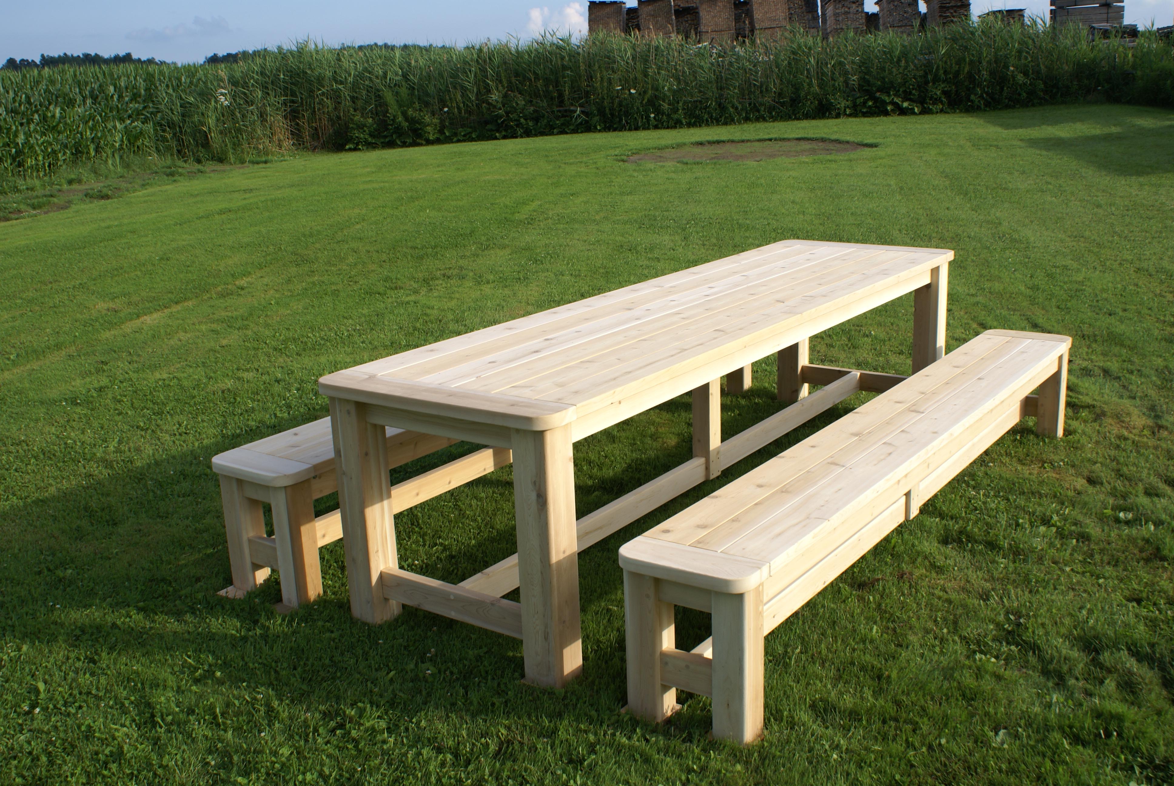 table de jardin quebec