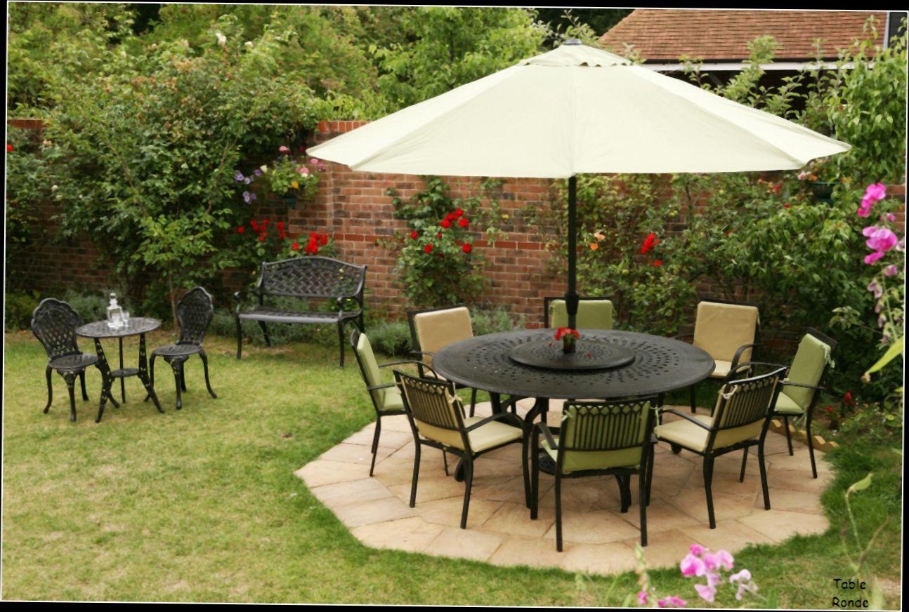 table de jardin ronde 8 personnes