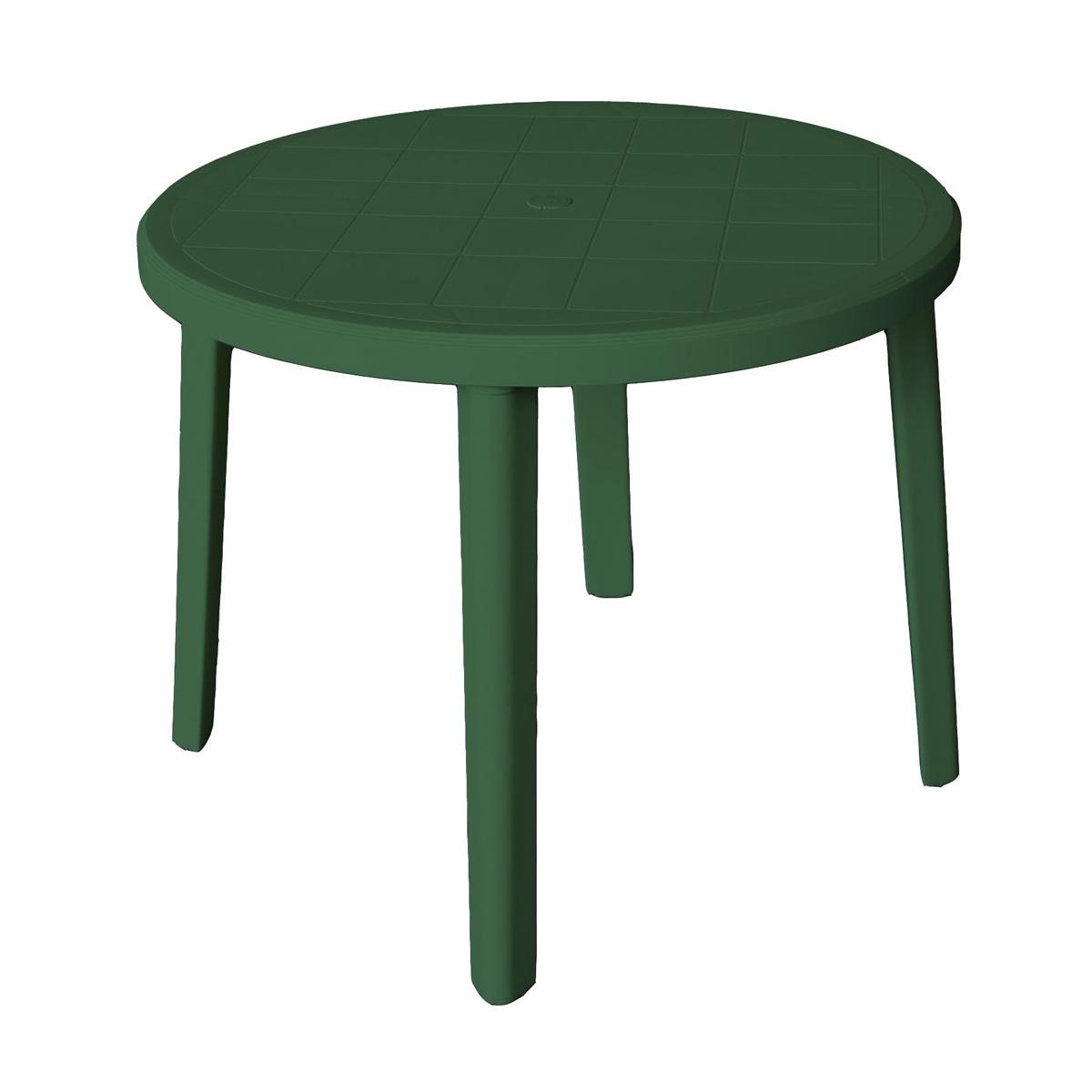 table de jardin ronde 90 cm