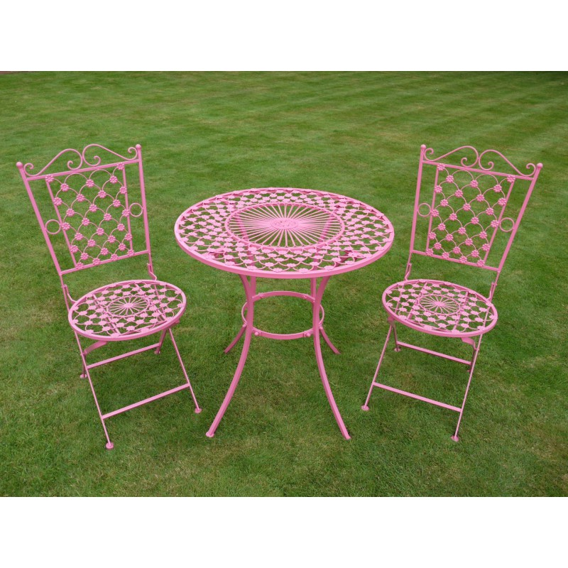 table de jardin ronde fer forge