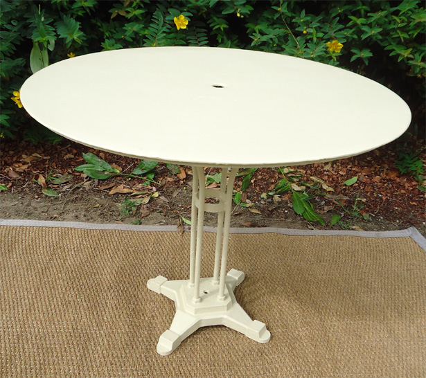 table de jardin ronde metal