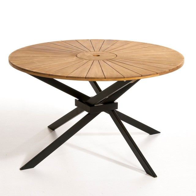Awesome Table De Jardin Ronde Bois Images House Interior