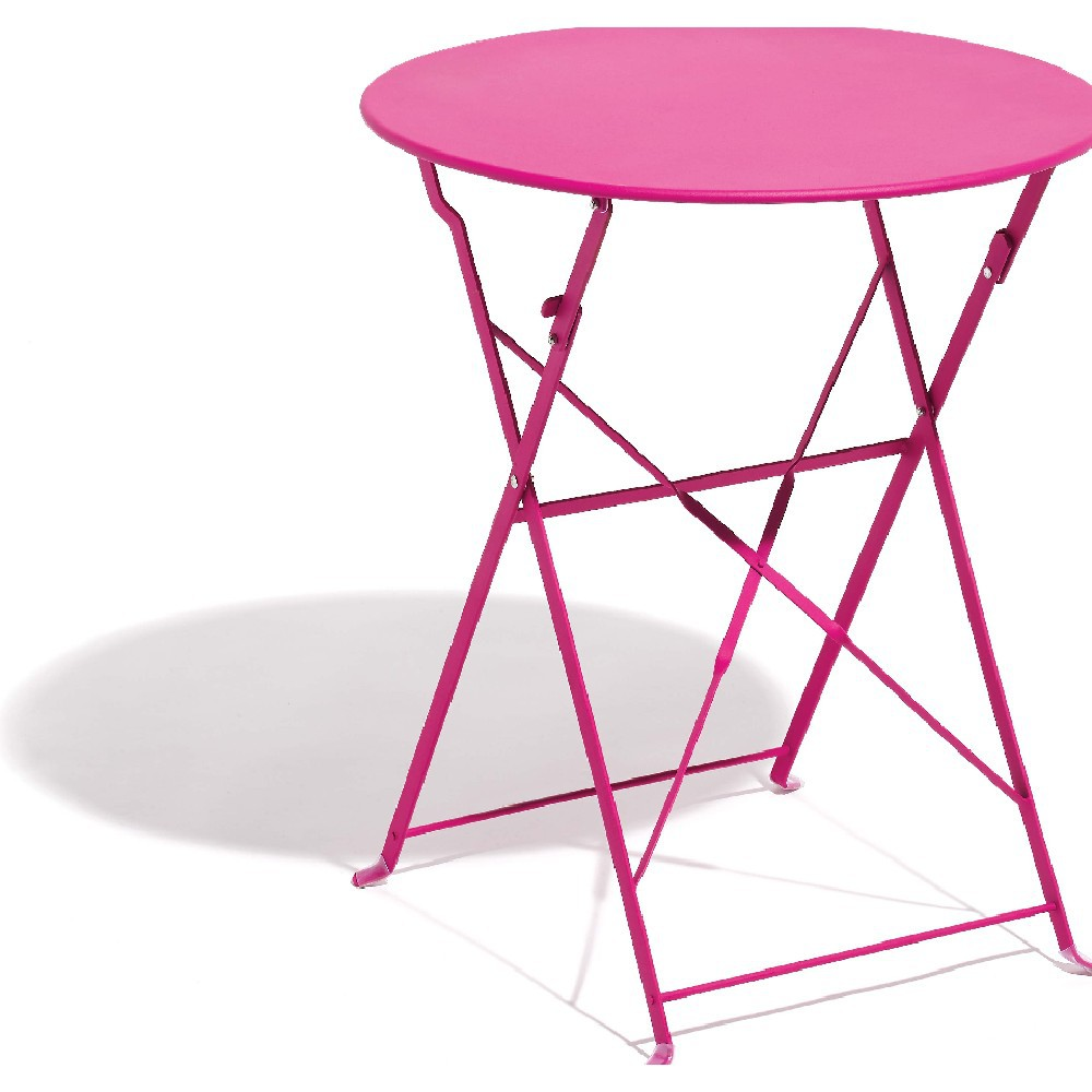 table de jardin rose