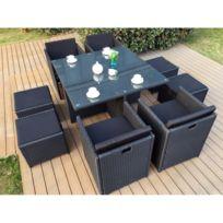 table de jardin rotin