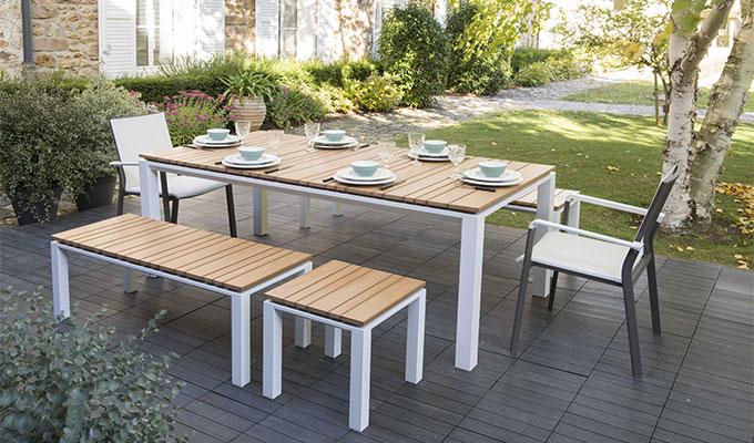 table de jardin salon de jardin