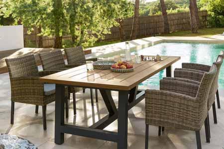 table de jardin style industriel