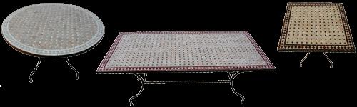 table de jardin style marocain