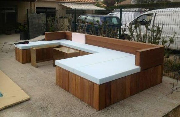 table de jardin sur mesure