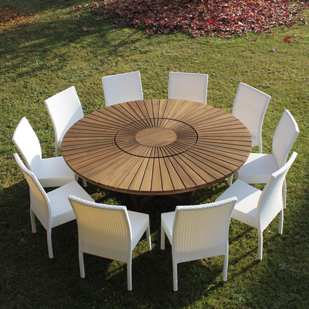 table de jardin teck ronde