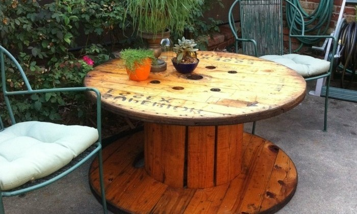 table de jardin touret