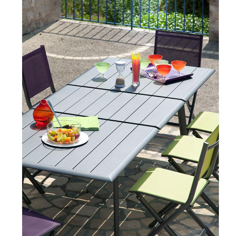 Emejing Table De Jardin Tout Alu Ideas - House Interior ...