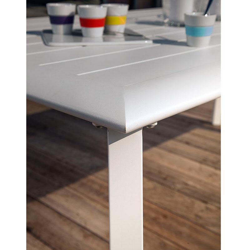 table de jardin tout aluminium
